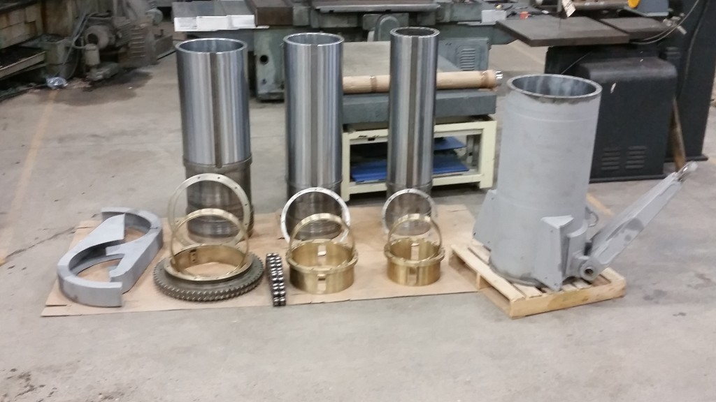 F1 Rocket Cylinder Components Before Installation